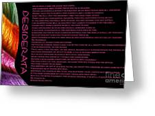 Desiderata 11 Greeting Card