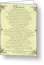 Desiderata Gold Bond Scrolled Greeting Card by Movie Poster Prints