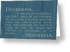 Desiderata On Canvas Greeting Card