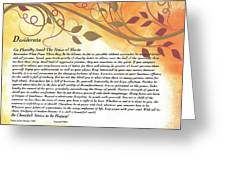 Desiderata On Golden Leaves Greeting Card