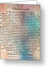 Desiderata On Grand Canyon Watercolor Greeting Card