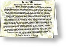 Desiderata On Leafy Watercolor Greeting Card