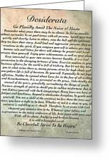 Desiderata On Mother Earth Watercolor Greeting Card