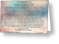 Desiderata On Pastel Watercolor Greeting Card