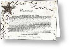 Desiderata On Starry Night Greeting Card