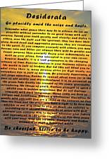 Desiderata Pismo Beach Golden Sunset Greeting Card