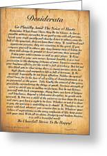 Desiderata Poster On Antique Embossed Wood Paper Greeting Card