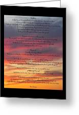 Desiderata Sky Greeting Card