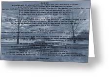 Desiderata Winter Scene Greeting Card
