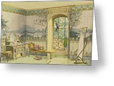 Design For A Bathroom, From Interieurs Greeting Card