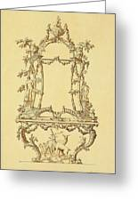 Design For A Console Table Greeting Card