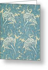 Design In Turquoise Greeting Card
