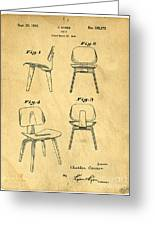 Designs For A Eames Chair Greeting Card by Edward Fielding