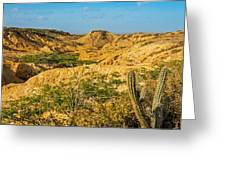 Desolate Desert Landscape Greeting Card