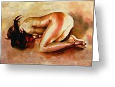 Despair - The Nude In Sadness Greeting Card