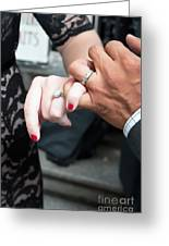 Destination Wedding Hands New Orleans Greeting Card