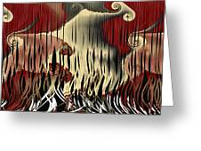 Destruction Of The Earth Abstract Greeting Card