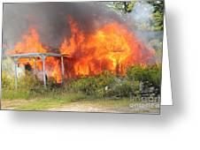 Destructive Fire Greeting Card
