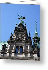 Detail City Hall Hamburg Greeting Card