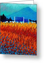 Detail From Golden Wheat Field Greeting Card