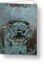 Detail Of A Bronze Mortar Greeting Card