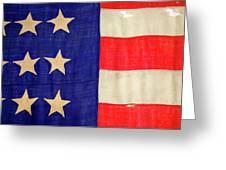 Detail Of A Civil War Flag In Drummer Greeting Card
