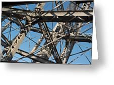 Detail Of Ferris Wheel At Vienna Prater Greeting Card