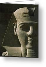Detail Of Pharaoh Head At Entrance Greeting Card