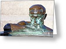 Detail Of Sculpture Greeting Card