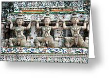 Detail Of Temple, Thailand Greeting Card