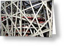 Detail Of The Beijing National Stadium Greeting Card by Brendan Reals