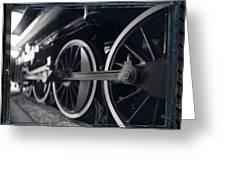 Detail Steam Engine Greeting Card