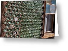 Detailed View Of Bottle House At Calico California Greeting Card