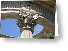 Detailed View Of Corinthian Order Column Greeting Card