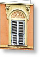 Detailed Window Of Rome Greeting Card