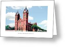 Detroit - Sheridan Avenue - St Anthony Catholic Church - 1910 Greeting Card