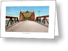 Detroit - The Belle Isle Bridge - 1908 Greeting Card