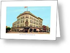 Detroit - The Brunswick Hotel - Grand Rive And Cass Avenues - 1900 Greeting Card