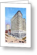 Detroit - The Lafayette Building - Michigan Avenue Lafayette And Shelby Streets - 1924 Greeting Card