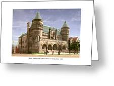 Detroit - The Museum Of Art - Jefferson Avenue At Hastings Street - 1905 Greeting Card