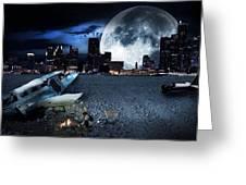 Detroit 2079 Greeting Card