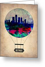 Detroit Air Balloon Greeting Card