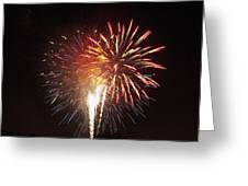 Detroit Area Fireworks -2 Greeting Card