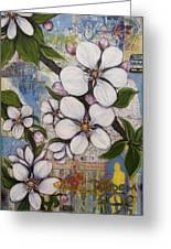 Detroit Blooms Greeting Card by Andrea LaHue aka Random Act