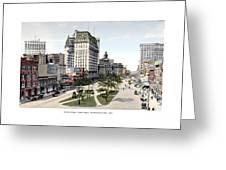 Detroit - Cadillac Square - 1905 Greeting Card
