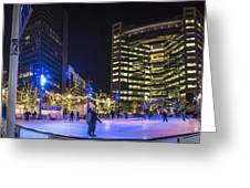 Detroit Ice Rink  Greeting Card