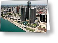Detroit International Riverfront Greeting Card