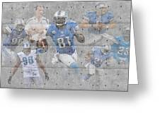 Detroit Lions Team Greeting Card