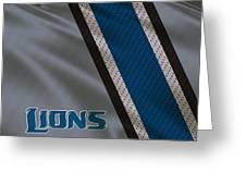 Detroit Lions Uniform Greeting Card