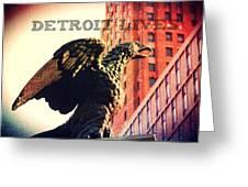 Detroit Lives Forever 2 Greeting Card